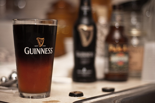 Black and Tan Beer Guinness